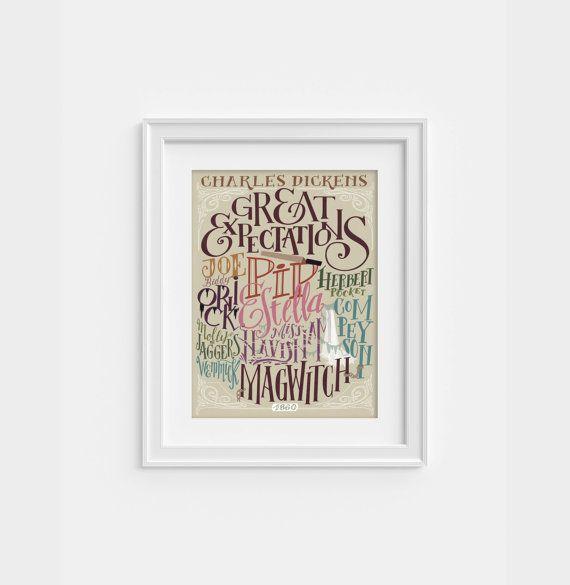 Dickens Poster  Grandi Speranze  personaggi 320 x di PemberleyPond, €15.00