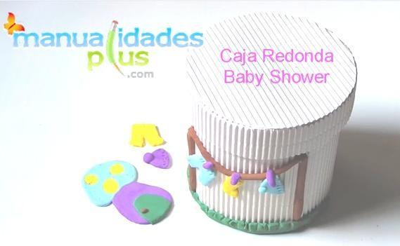 Cajas Redondas Baby Shower con porcelana fría