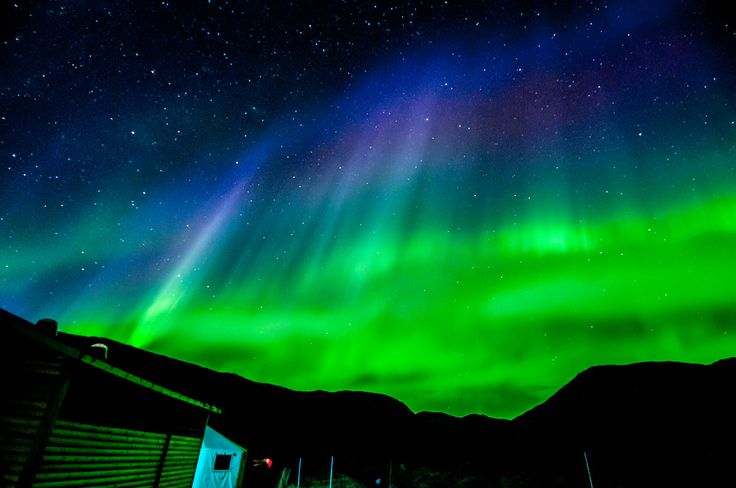 Northern Lights Over Torngat Mountains Base Camp, Labrador, Canada