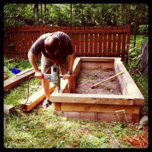 Log Raised Garden Beds: 17 Best Images About GARDENING RAISED BEDS On Pinterest