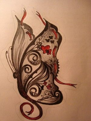 Like the designs within the butterfly