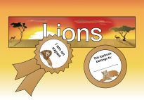 Labels: Lion Lapbook materials for children in pre-K and kindergarten from KiGaPortal.com