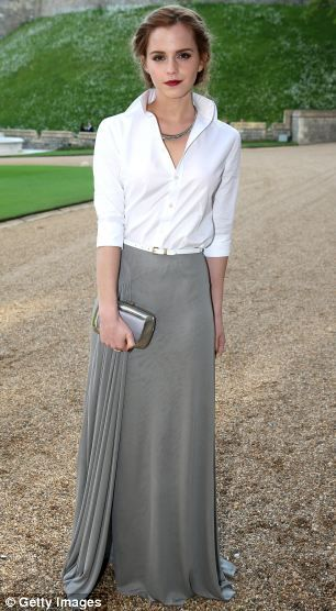 Actress Emma Watson arrives for a dinner to celebrate the work of The Royal Marsden hosted by the Duke of Cambridge
