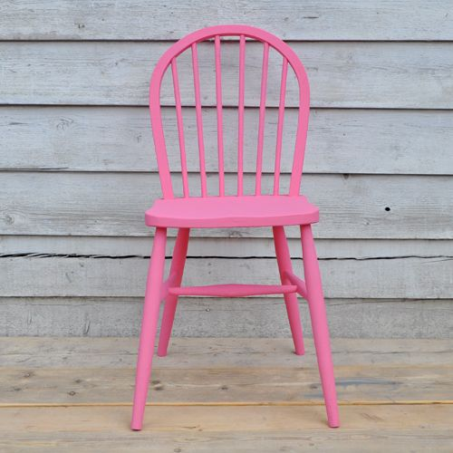 Simple Hand Painted Chair. We mixed up this hot summer pink using #ChalkPaint™ by Annie Sloan. 50% Pure and 50% Emperors Silk.