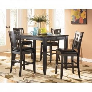 Pub Style Kitchen Dinette Decor With Counter Height Dining Table