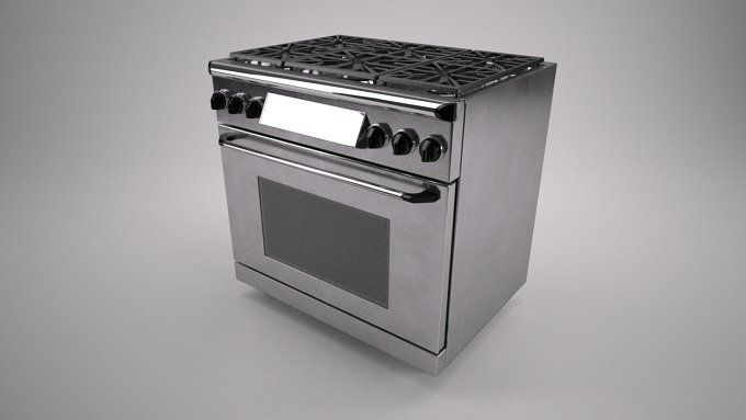 36 inch gas range cooker by Graphics834 on @creativemarket