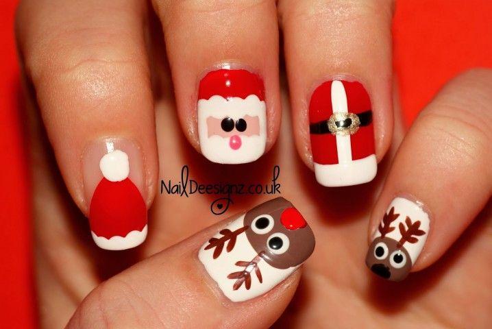 15 Lovely Christmas Santa Claus Nail Designs Fashion 2d Christmas Nail Art Designs Xmas Nail Art Santa Nail Art