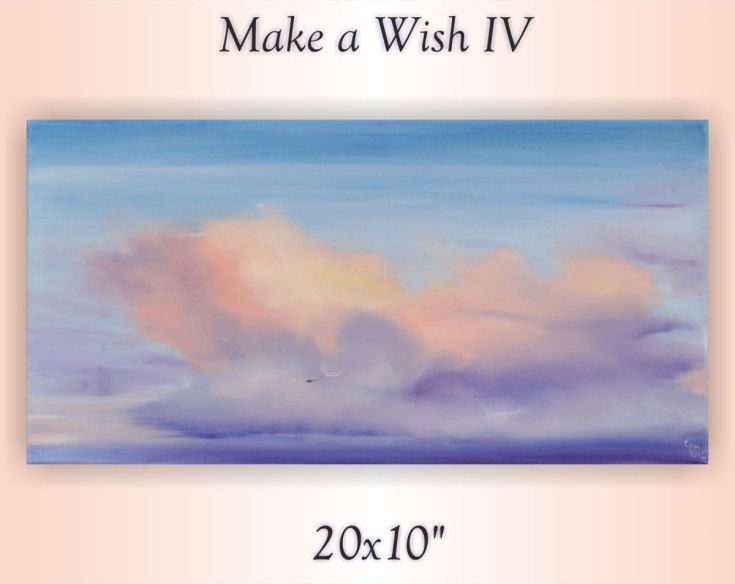 "Buy Make a Wish IV, 20x10"", Oil painting by Eva Volf on Artfinder. Discover thousands of other original paintings, prints, sculptures and photography from independent artists."