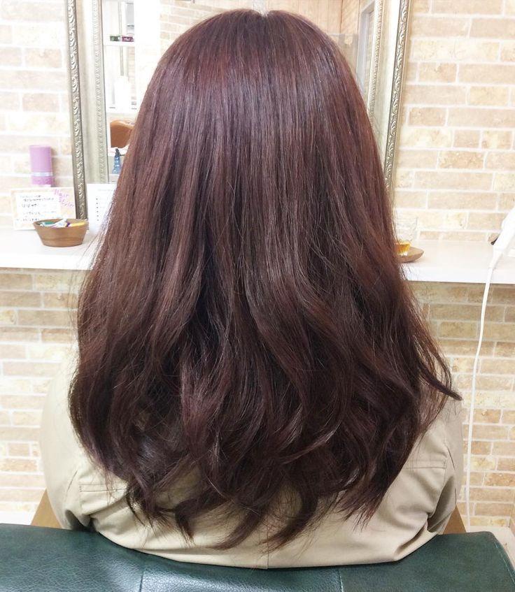 本日のお客様 イエローに明るくなっていた毛先を バイオレットピンクで艶やかに仕上げました(o) 髪質に合わせてシャンプートリートメントも選んでサラサラです ご来店ありがとうございます #美容室#鴨池 #creer_for_hair #ピンク #サラサラ