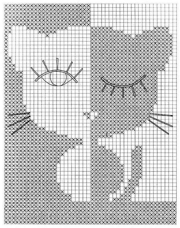 Вязание рисунки животных: