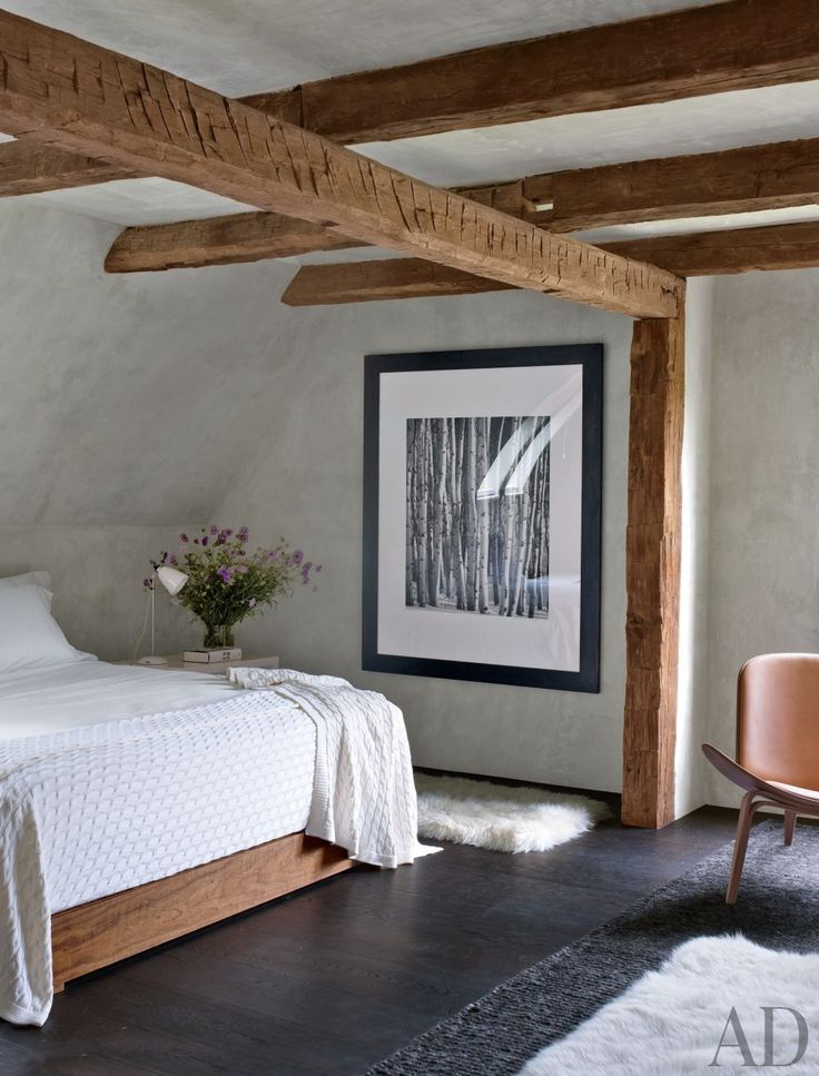 Rustic Bedroom by Bonetti/Kozerski Studio in New Paltz, New York