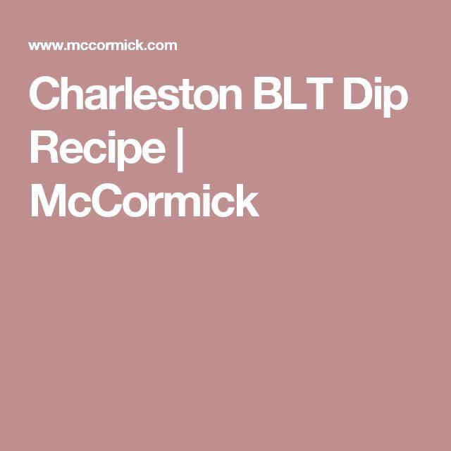 Charleston BLT Dip Recipe   McCormick