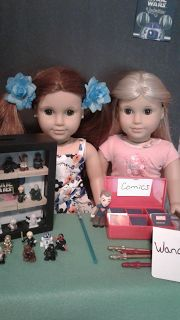 American Girl dolls Julie and Octavia set up a booth at Comic Con 2017