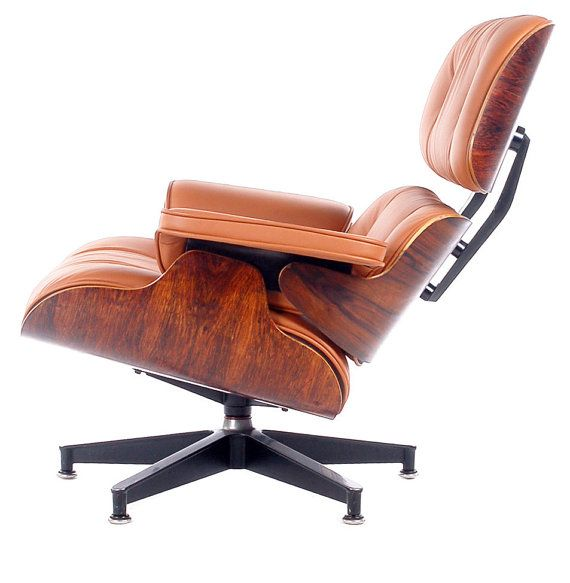Mid Century Modern Charles Eames for Herman Miller 670 Rosewood Lounge Chair