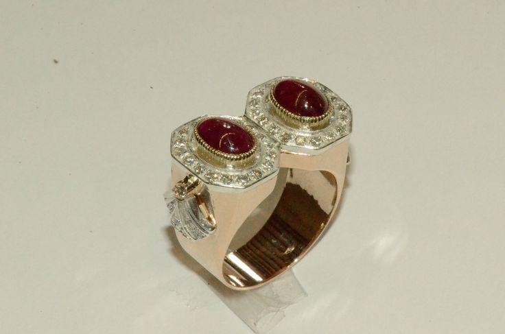Transforming a pair of earrings in an Art Deco style ring - Trasformare un paio di orecchini in un anello stile Art Deco