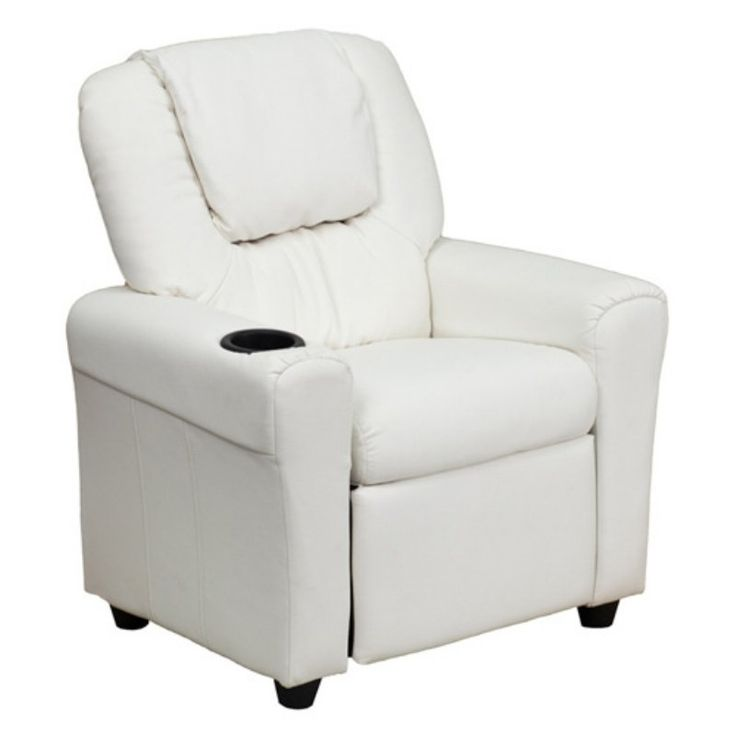 Flash Furniture Vinyl Kids Recliner With Cup Holder And
