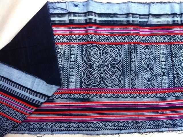 stretched on frame? New Cotton Textile Hmong Craft Ethnic Handmade Print Folk Art Table Runner | eBay