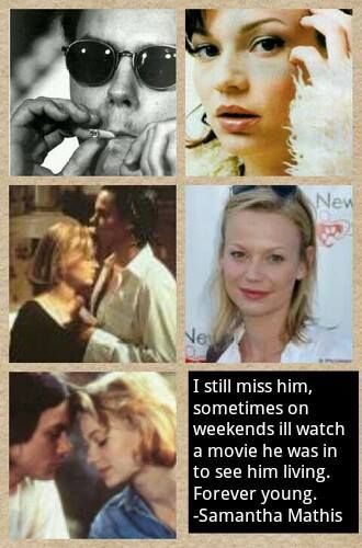 River Phoenix and Samantha Mathis...Great movie, loved River growing up!!