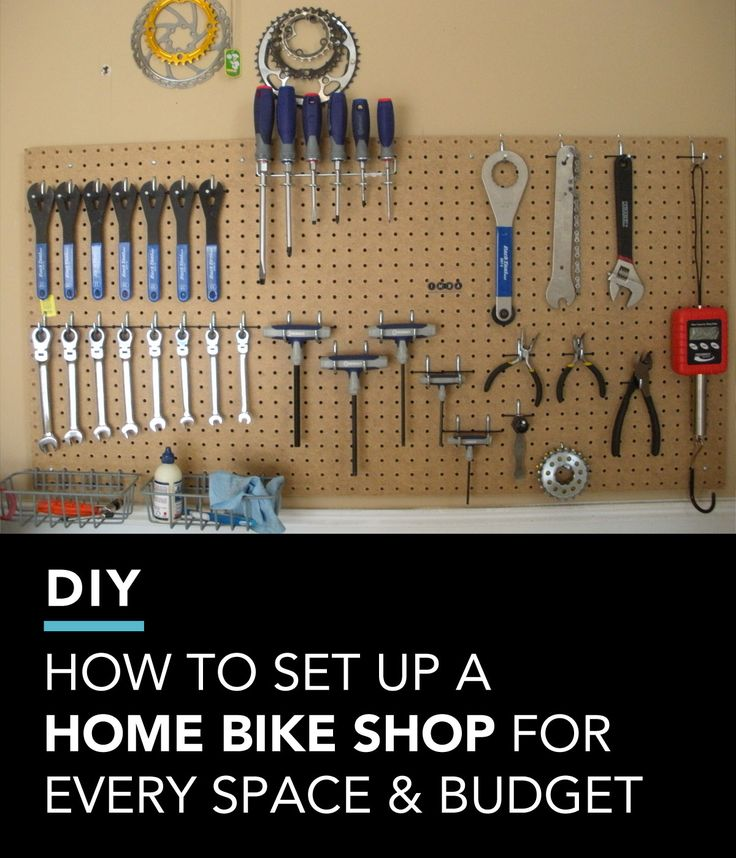 Setting up a home bike shop makes it easy to perform basic maintenance on your bike.