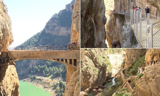 Spain's dangerous path, El Caminito del Rey reopens to the public
