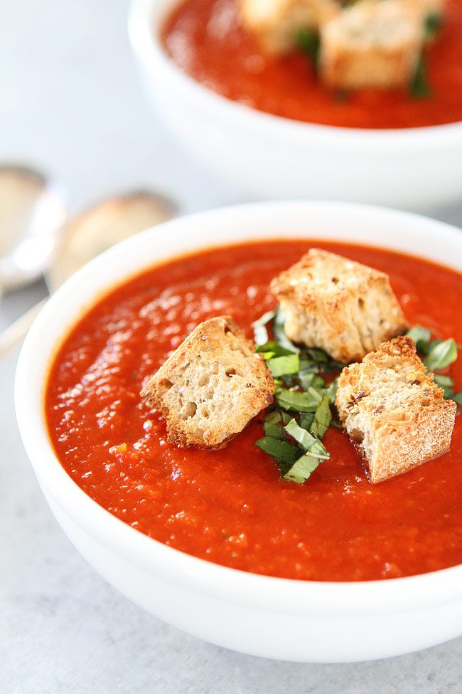 298 best soup recipes images on pinterest food soup for Roasted pepper tomato soup