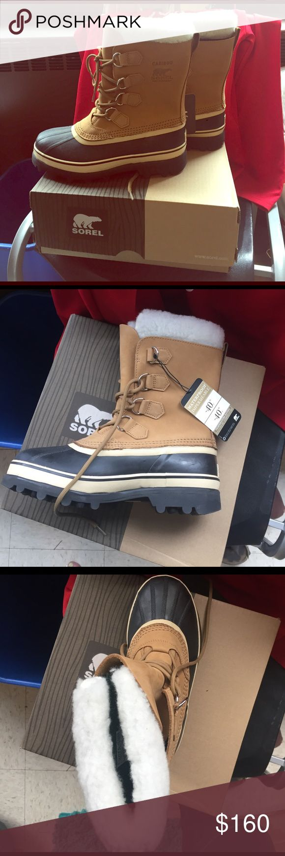 Sorel Caribou Boot - Women's Boot Size 7.5 Brand new never worn size 7.5 sorel boots. Perfect condition. Color is buff. Waterproof winter boots. Sorel Shoes Winter & Rain Boots