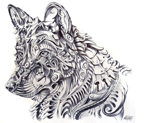 Wolf drawing Animal art Pinterest