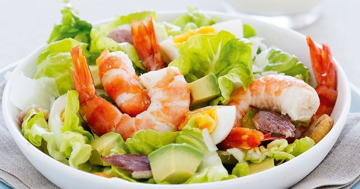 We've combined elements of a caesar salad and a prawn cocktail to create this deliciously fresh, summery dish.