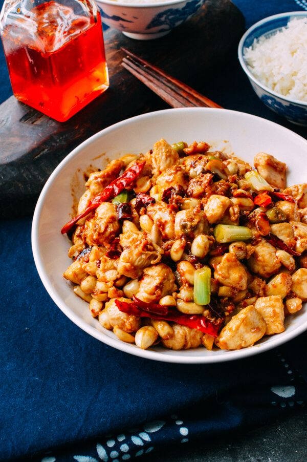 Kung pao chicken exists both in the traditional Chinese repertoire and Americanized takeout menus alike. Our recipe's on the traditional side of the spectrum!