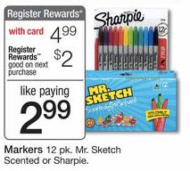 Walgreens: Sharpie & Mr. Sketch Markers 12-Packs $2.99 After Register Reward – Starting 10/26 – Hip2Save