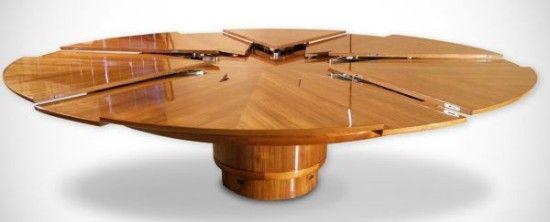 Design originale di grande genialità. Il tavolo espandibile: Fletcher Capstan Table. | Weddings Luxury