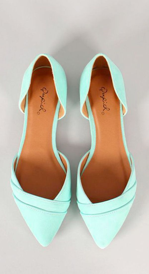 Mint flats are so cute