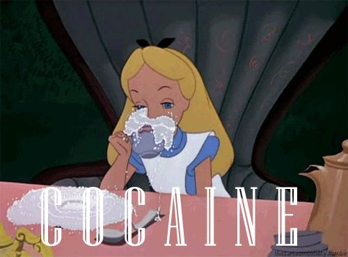 If Alice was on coke the whole time: