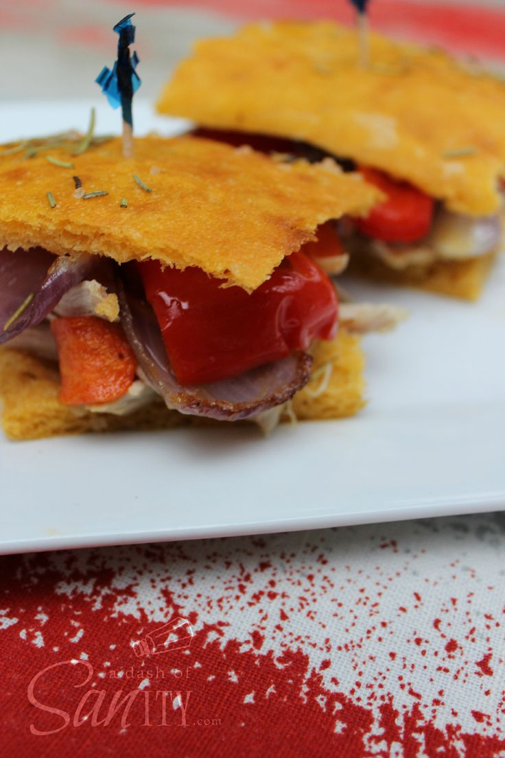 Roasted Chicken & Vegetable Medley Sliders on Sweet Potato ...