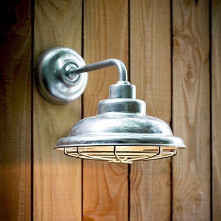 Galvanised mariner light exterior lightingoutdoor