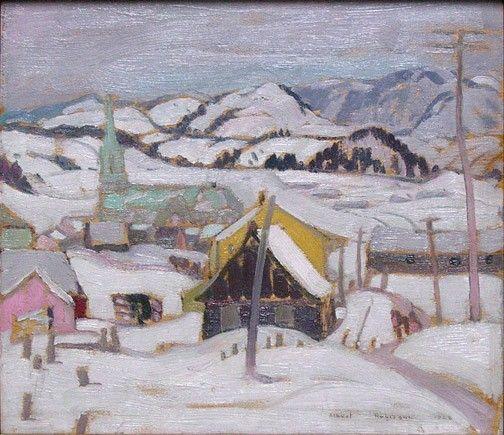 Albert H. Robinson - Saint Urbain near La Malbaie 11.5 x 13 Oil on panel (1928)