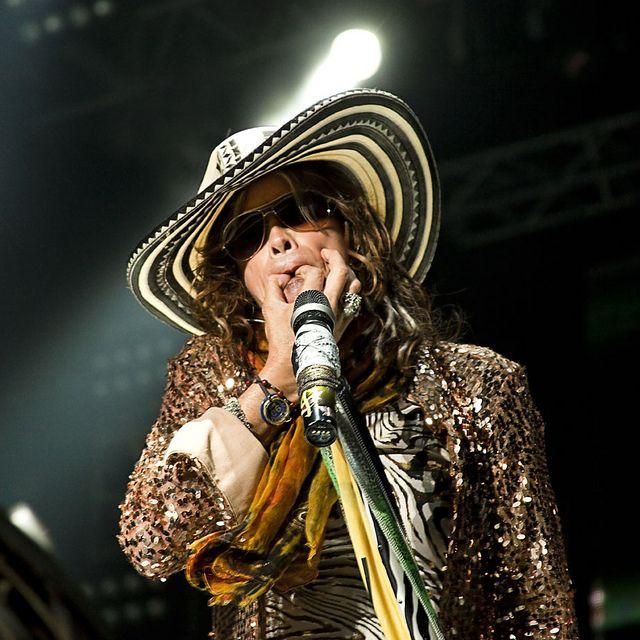 Aerosmith with Colombian sombrero vueltiao