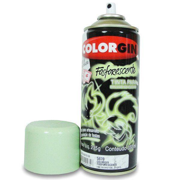Tinta Spray Colorgin Fosforescente Brilha no Escuro