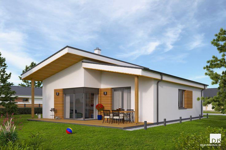 Projekt domu - i86 - Pohľad zo záhrady