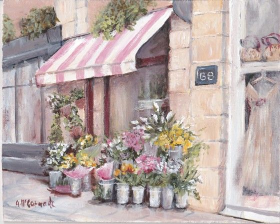 PRINT ON PAPER - Paris Fleurist - Postage is included Worldwide