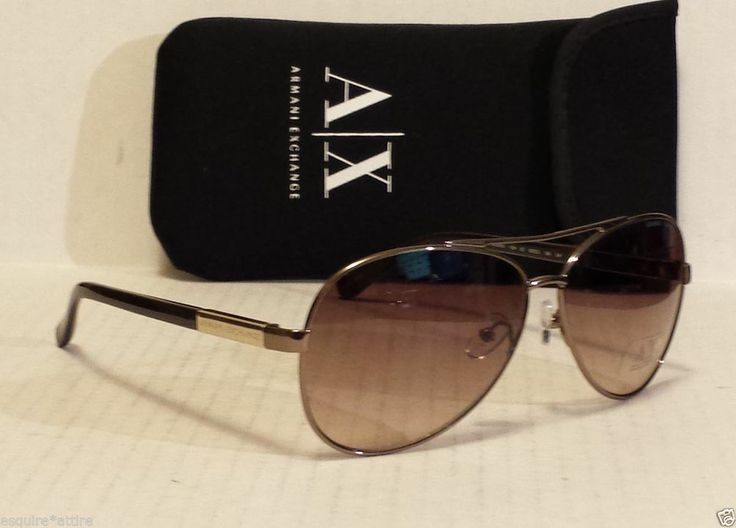 Armani Exchange Sunglasses AX201 YJW aviator brown with bag NWT