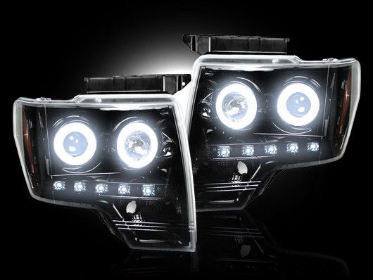 RECON Part # 264190BKCC Smoked Projector Headlights Ford F150 2009 2010 2011 2012 2013 2014