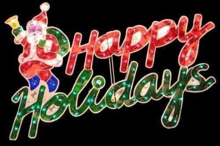 40 Quot Happy Holidays Lighted Holographic Sign Christmas Yard