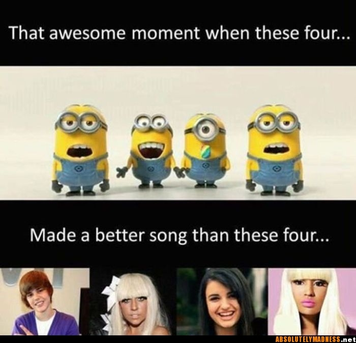 .Minions, Nickiminaj, Despicable Me 2, Lady Gaga, Funny Pictures, Songs, Funny Minion, So True, True Stories