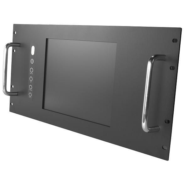 "19"" 6U Rack Mount industrial LCD monitor, 12.1"" LCD Touchscreen Panel, Rack Mount Monitor"