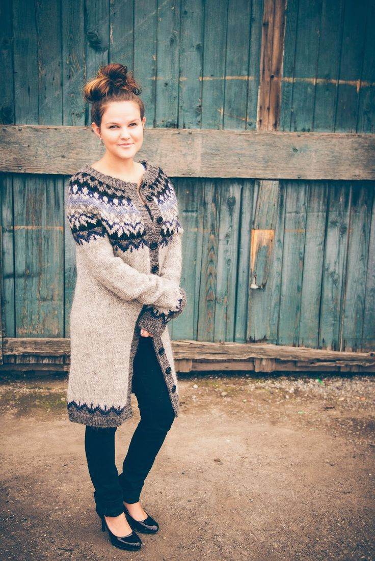 Fleece Love and Happiness: Icelandic Sweater on the Most Beautiful Girl in the World