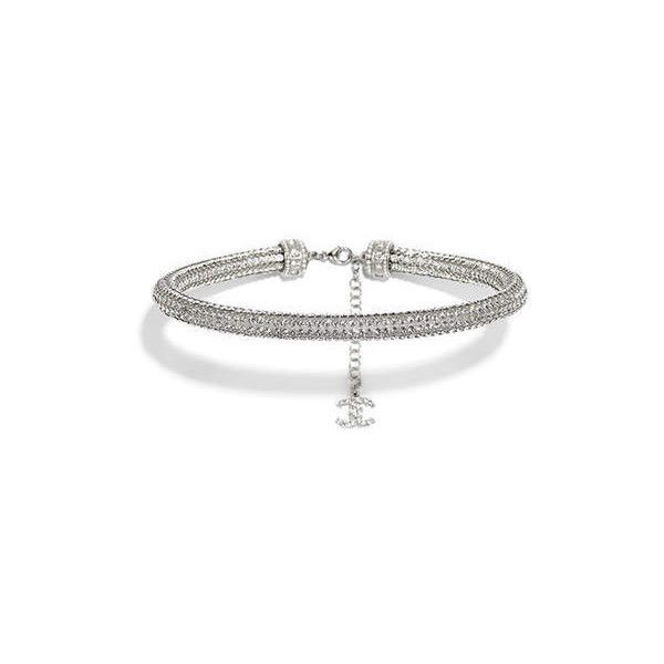 silver, transparent pearly white Chanel ❤ liked on Polyvore featuring jewelry, silver costume jewelry, silver jewellery, chanel, costume jewelry and silver jewelry