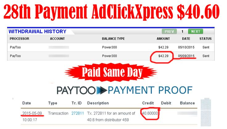 Ad Click Xpress is Paying 28th Payment $40.60 to PayToo Earn 4% daily: http://www.adclickxpress.com/?r=xSpueJXBJ6&p=mx