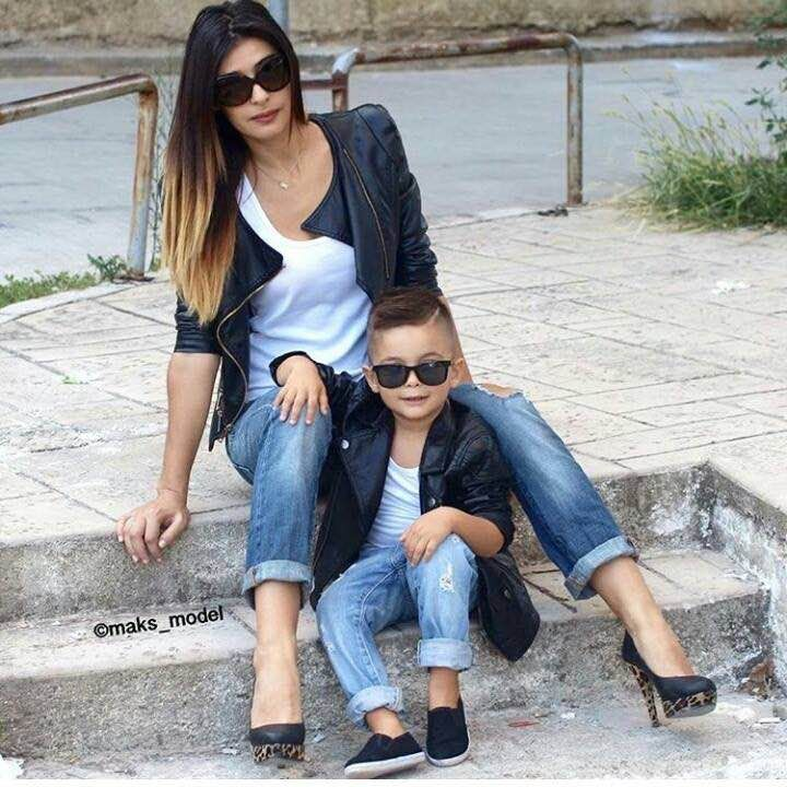 Cute Mother Son Outfit Ideas 12