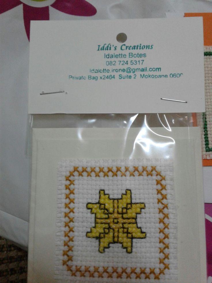 Cross stitch card